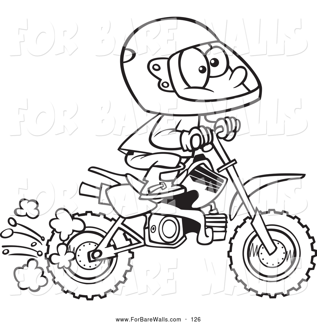 cartoon dirt bike pictures