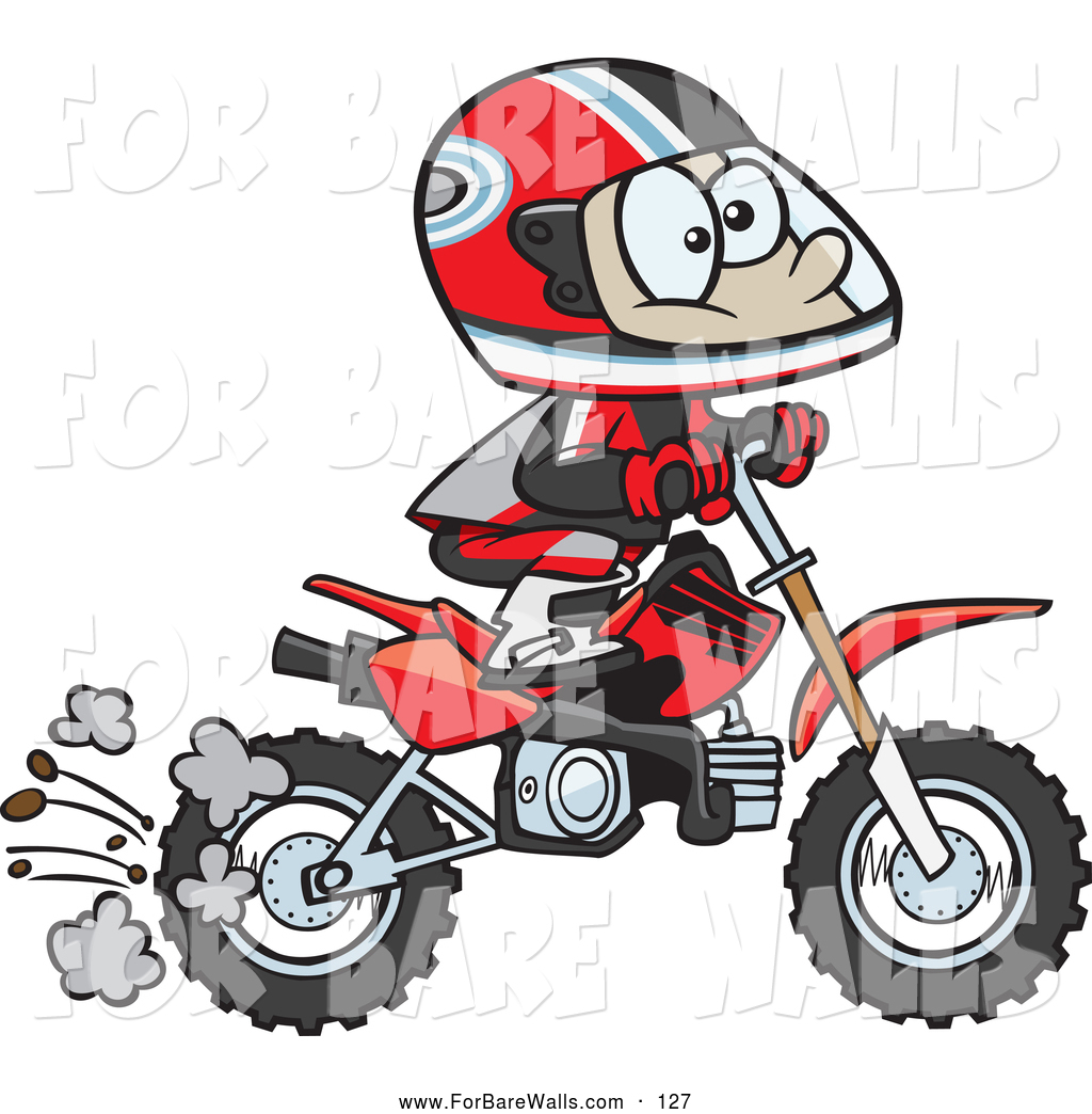 1024x1044 Printable Illustration Of A Cartoon Boy Riding A Dirt Bike To