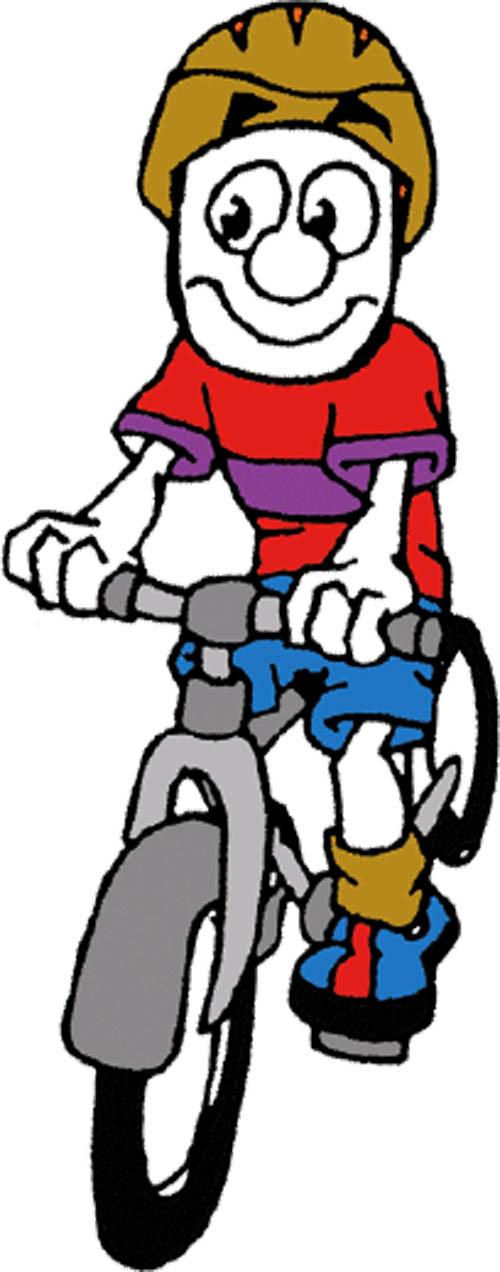 500x1272 Bike Cartoon Clip Art