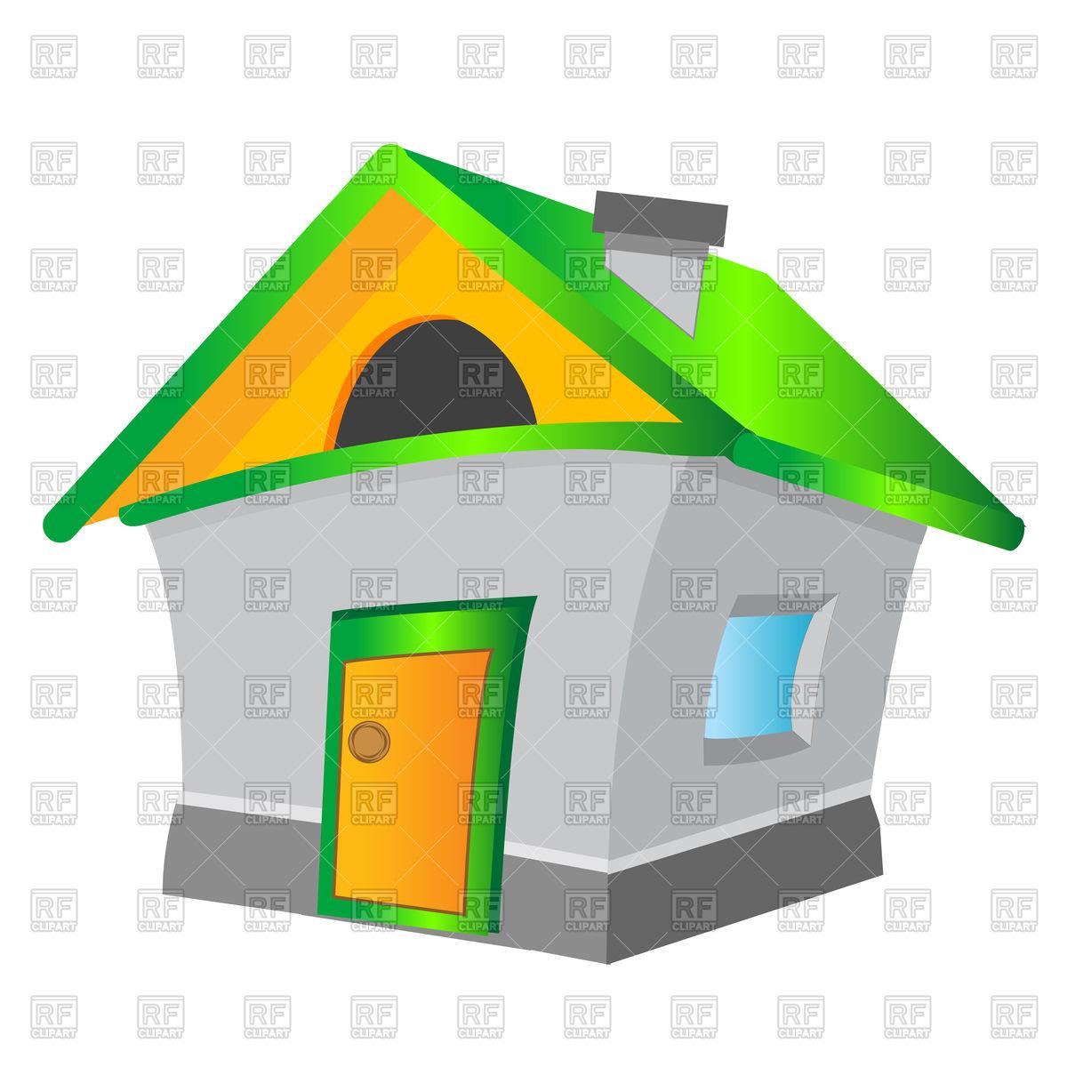 1200x1200 Cartoon House Royalty Free Vector Clip Art Image