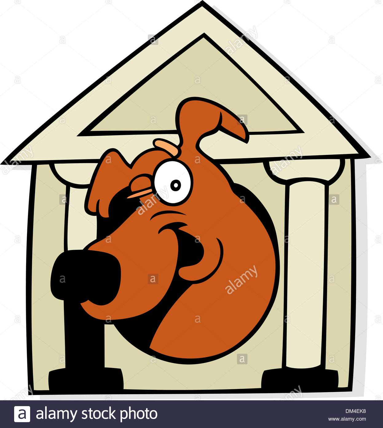 1246x1390 Dog In Classic Doghouse Stock Vector Art Amp Illustration, Vector