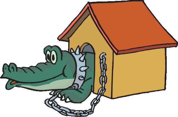 600x395 Alligator In Doghouse Clip Art