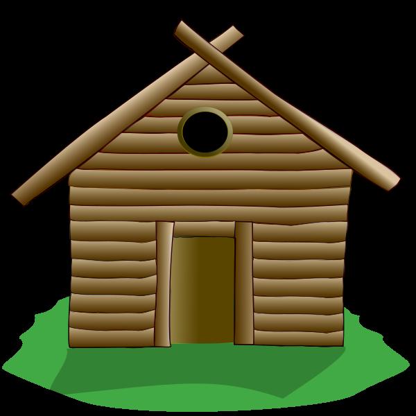 600x600 Stick House Clip Art