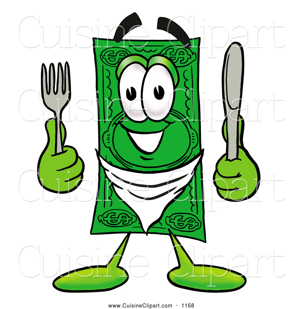 1024x1044 Cuisine Clipart Of A Cash Dollar Bill Mascot Cartoon Character