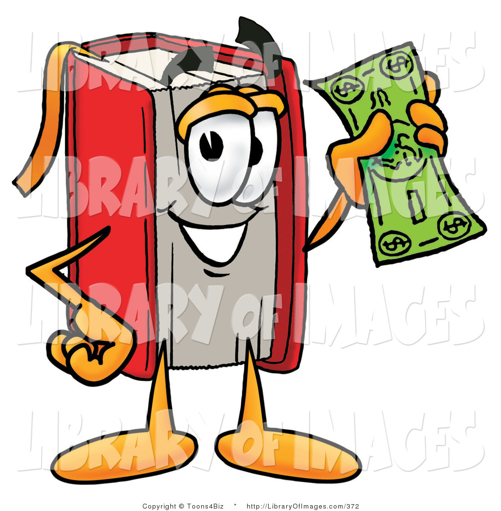 1024x1044 Cliprt Of Rich Red Book Mascot Cartoon Character Holding