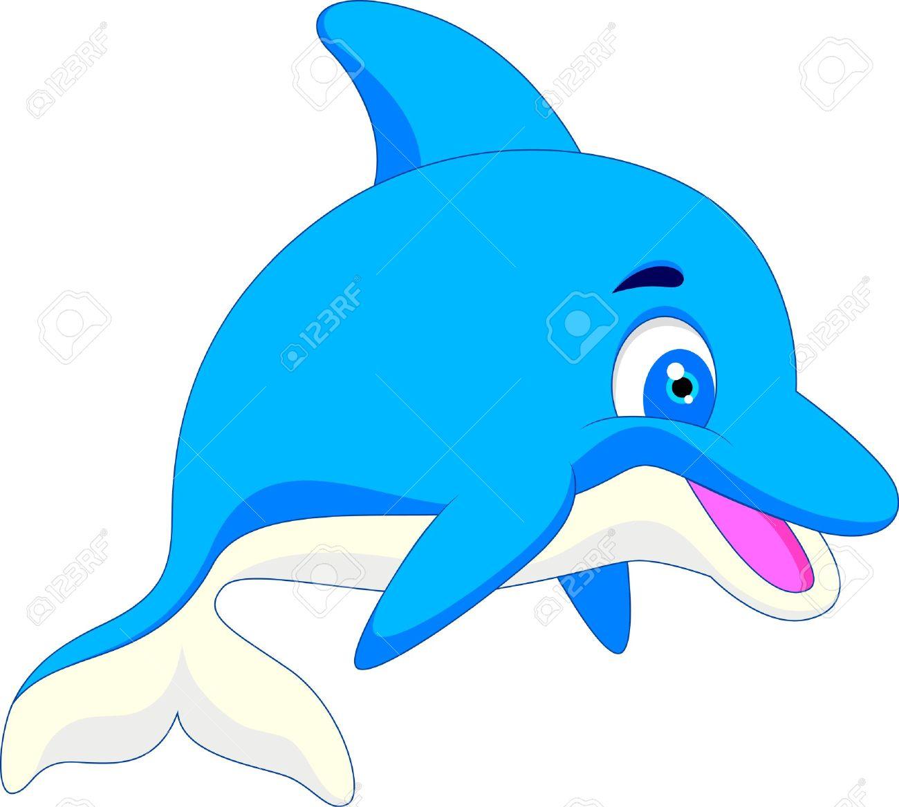 1300x1168 Illustration Of Funny Dolphin Cartoon Royalty Free Cliparts
