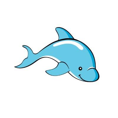 400x400 Dolphin Cartoon