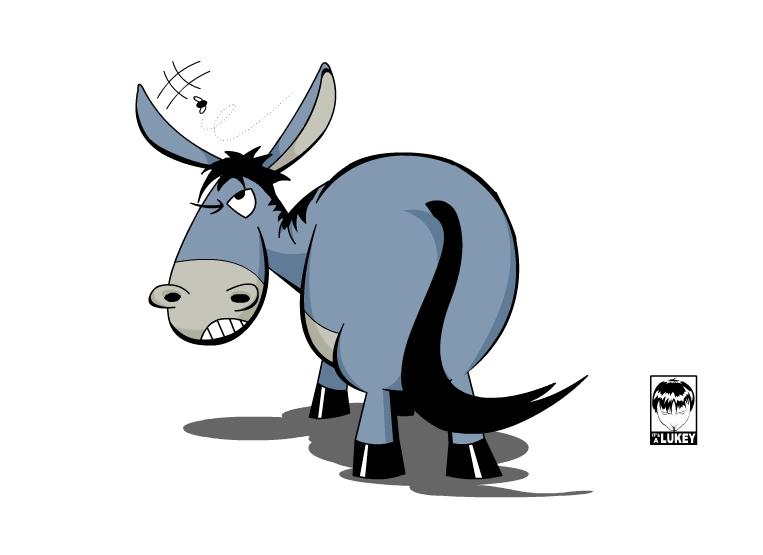 763x555 Cartoon Donkey By Airdin Craft Projects Donkey
