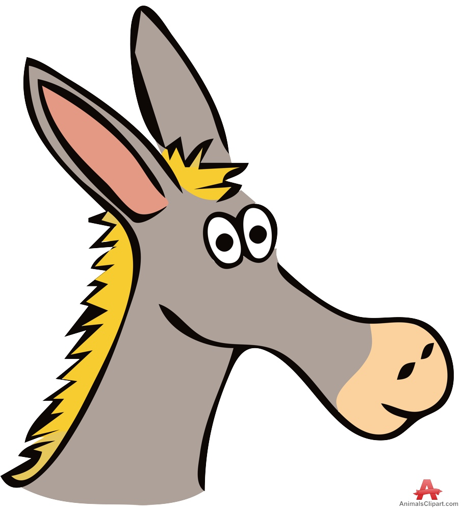 910x999 Donkey Cartoon Character Face Free Clipart Design Download