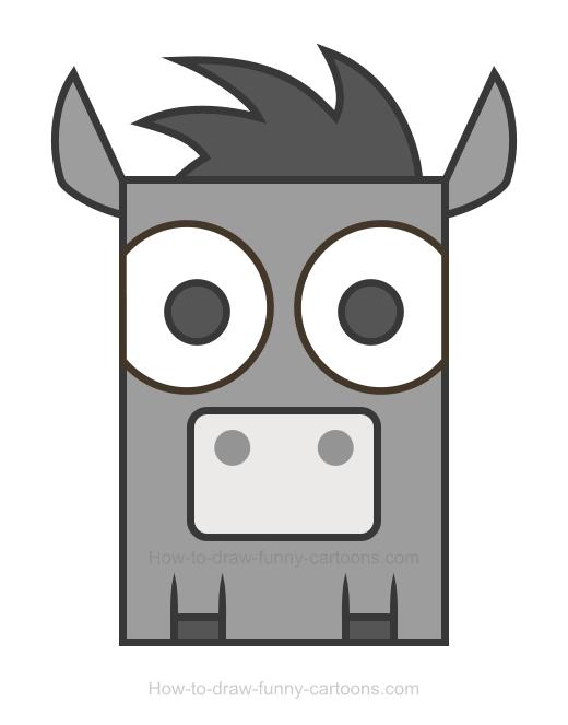 520x663 Donkey Clipart