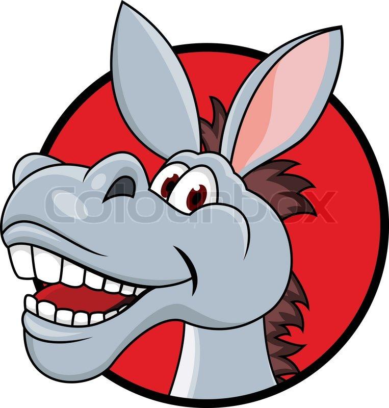 763x800 Donkey Head Cartoon Stock Vector Colourbox