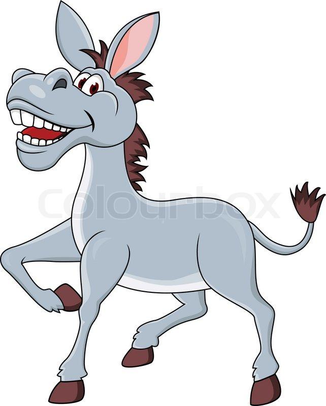 642x800 Smiling Donkey Cartoon Stock Vector Colourbox