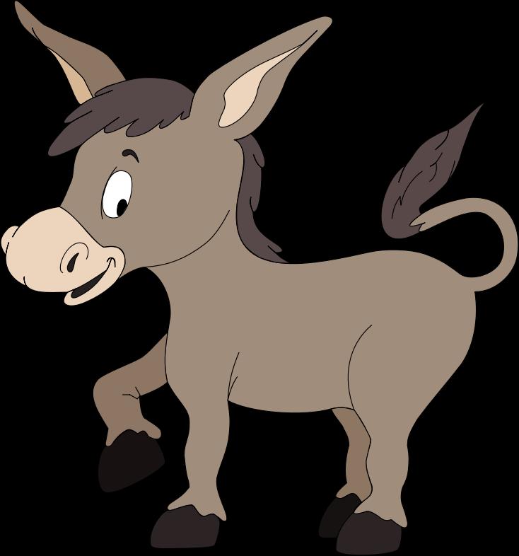 734x786 Cartoon Donkey Clipart