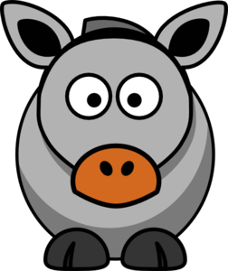 252x300 Donkey Clip Art
