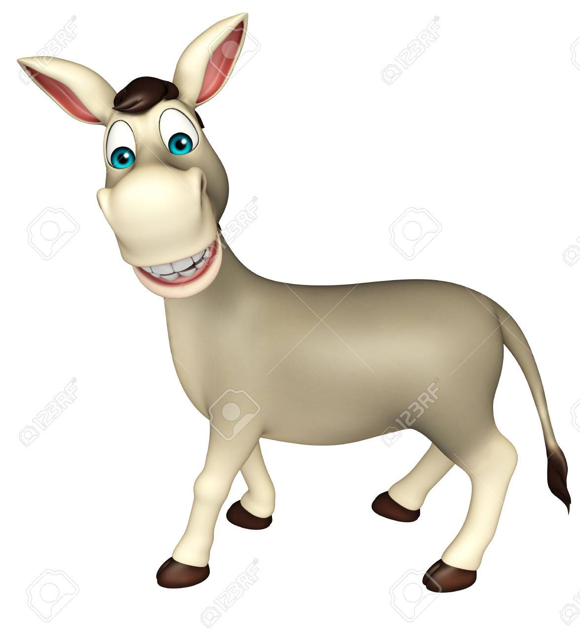 1175x1300 3d Rendered Illustration Of Donkey Funny Cartoon Character Stock
