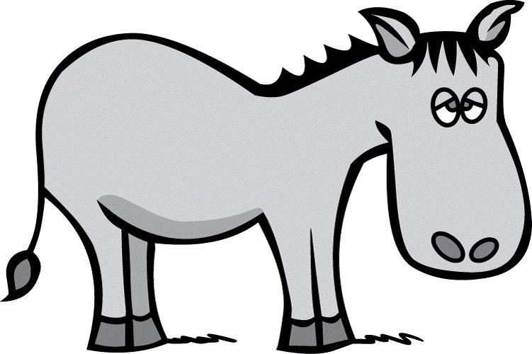 751x500 Donkey Clipart