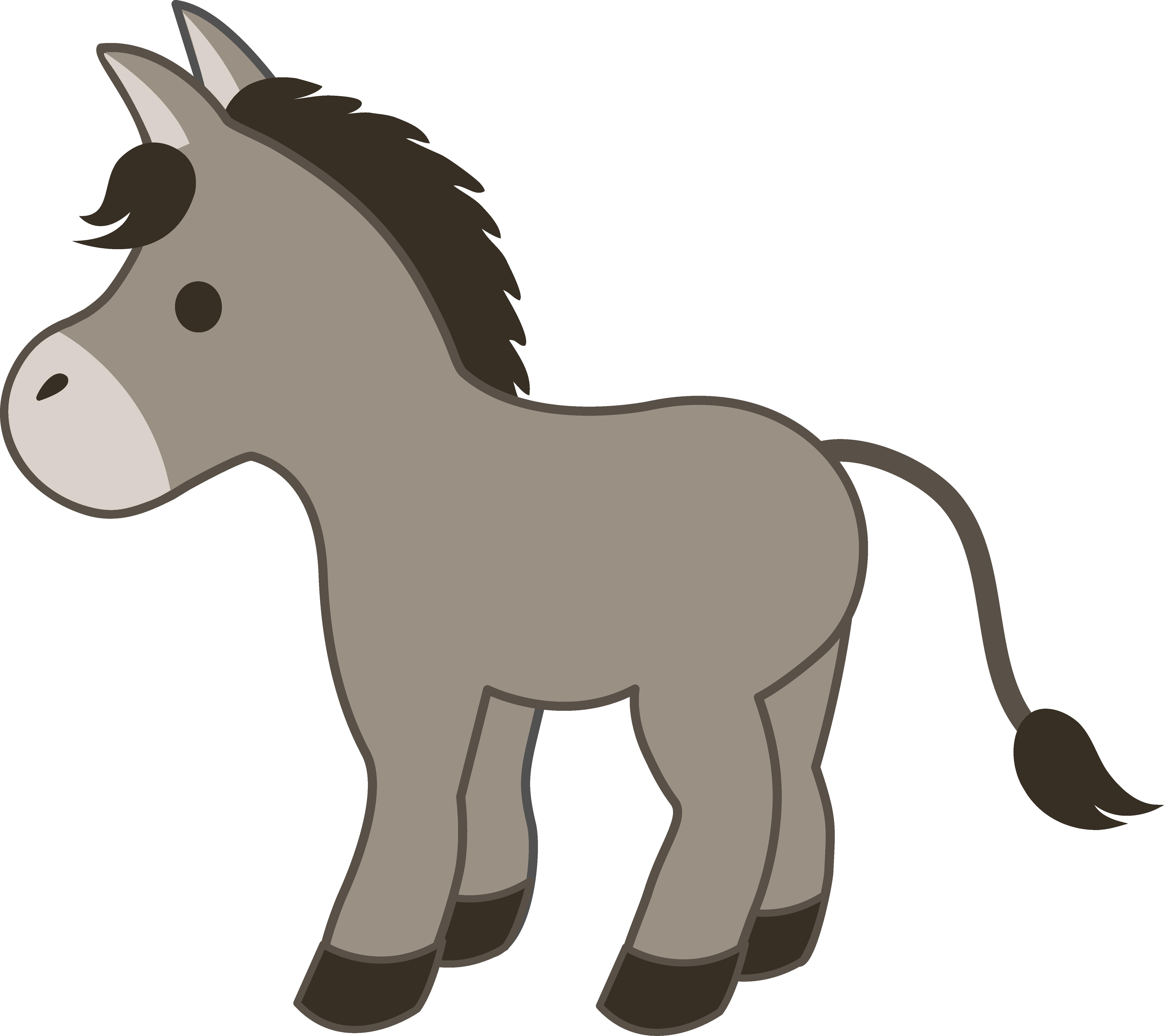 5360x4769 Drawn Donkey Cartoon