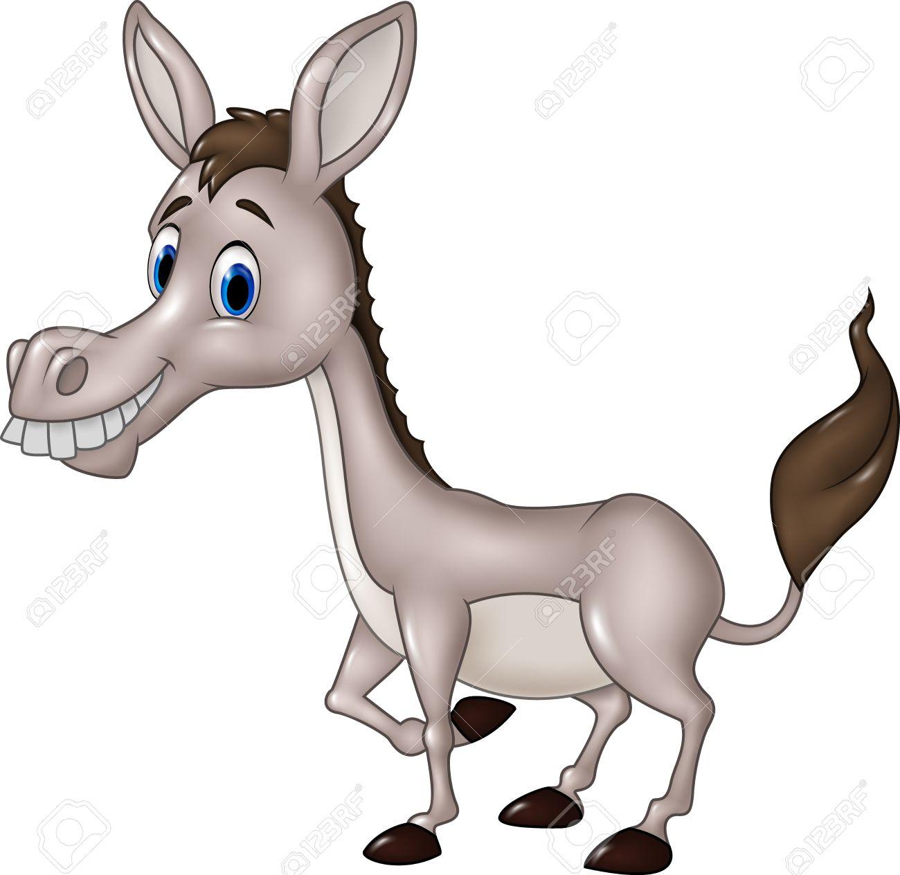 1300x1264 Vector Illustration Of Cartoon Funny Donkey Isolated On White
