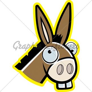 325x325 Cartoon Donkey Gl Stock Images