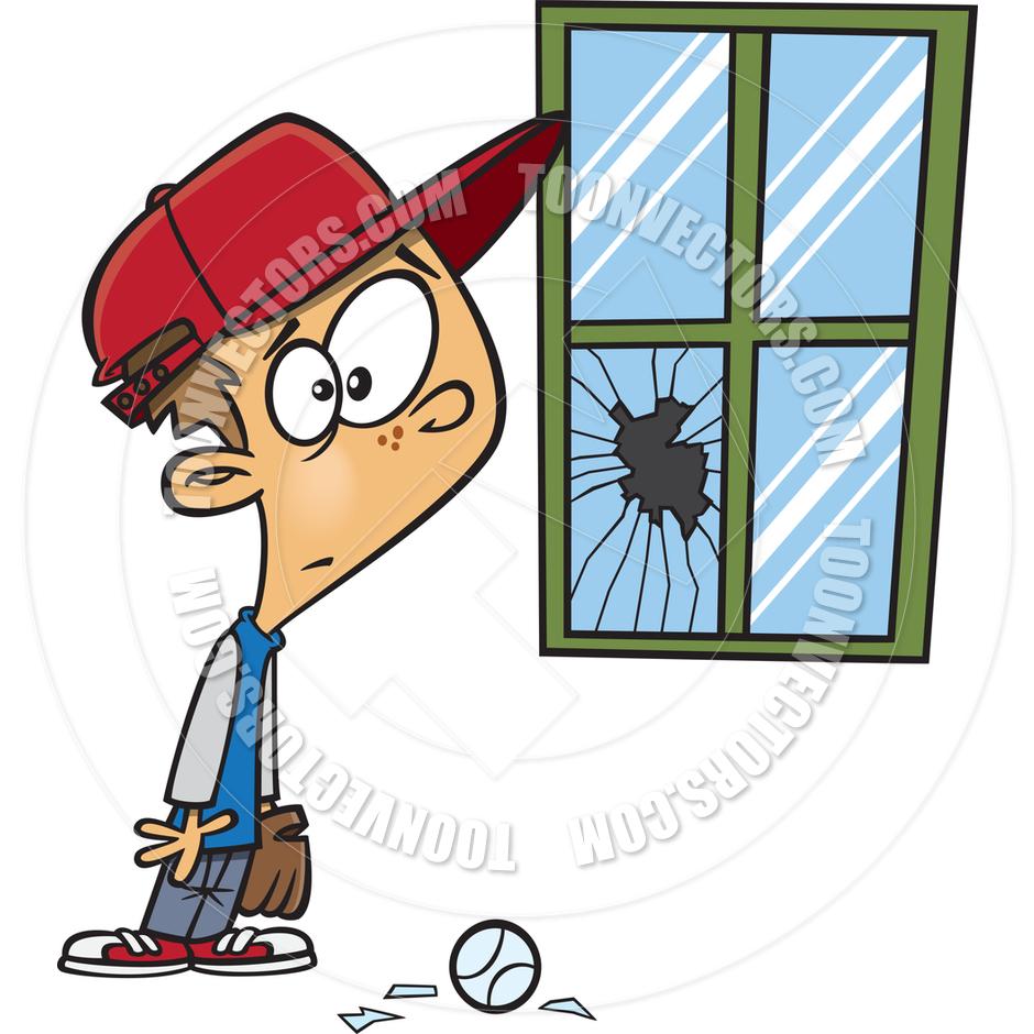 940x940 Cartoon Broken Window By Ron Leishman Toon Vectors Eps