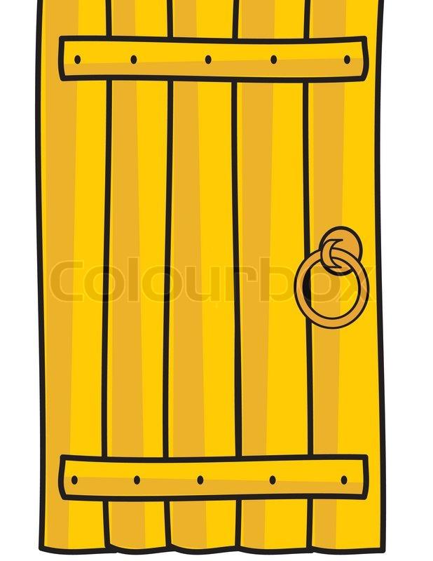 618x800 Wooden Door Isolated