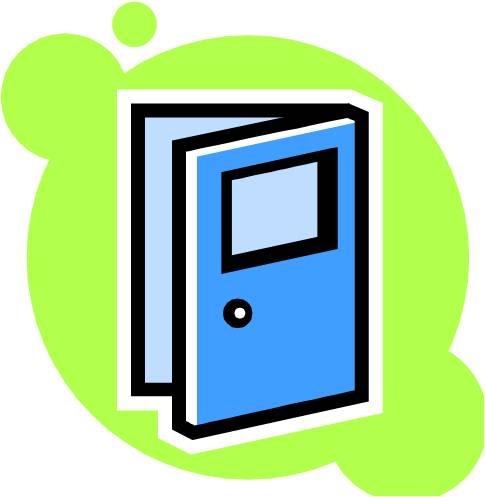 485x497 Clip Art Cartoon Door Clipart