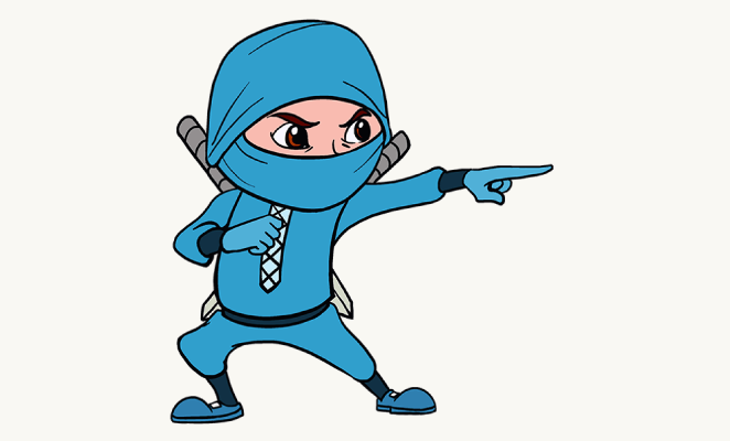 662x400 How To Draw A Cartoon Ninja In A Few Easy Steps Easy Drawing Guides