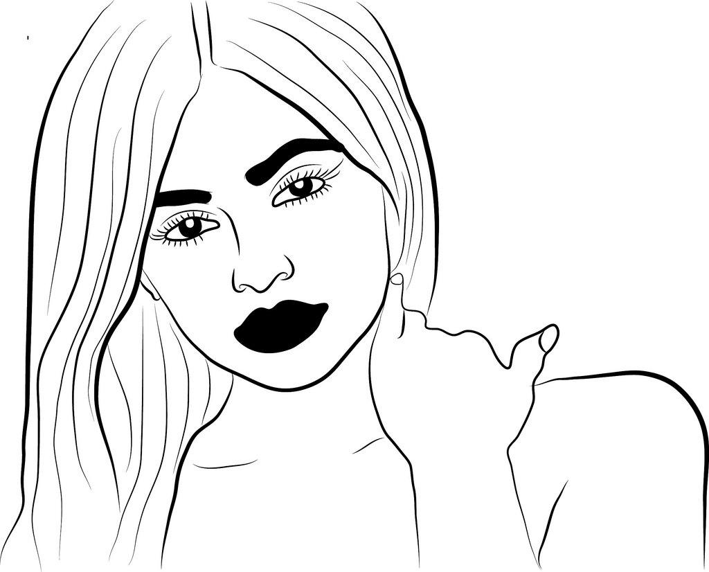 1024x826 Kylie Jenner Cartoon Drawing Michael Adedokun