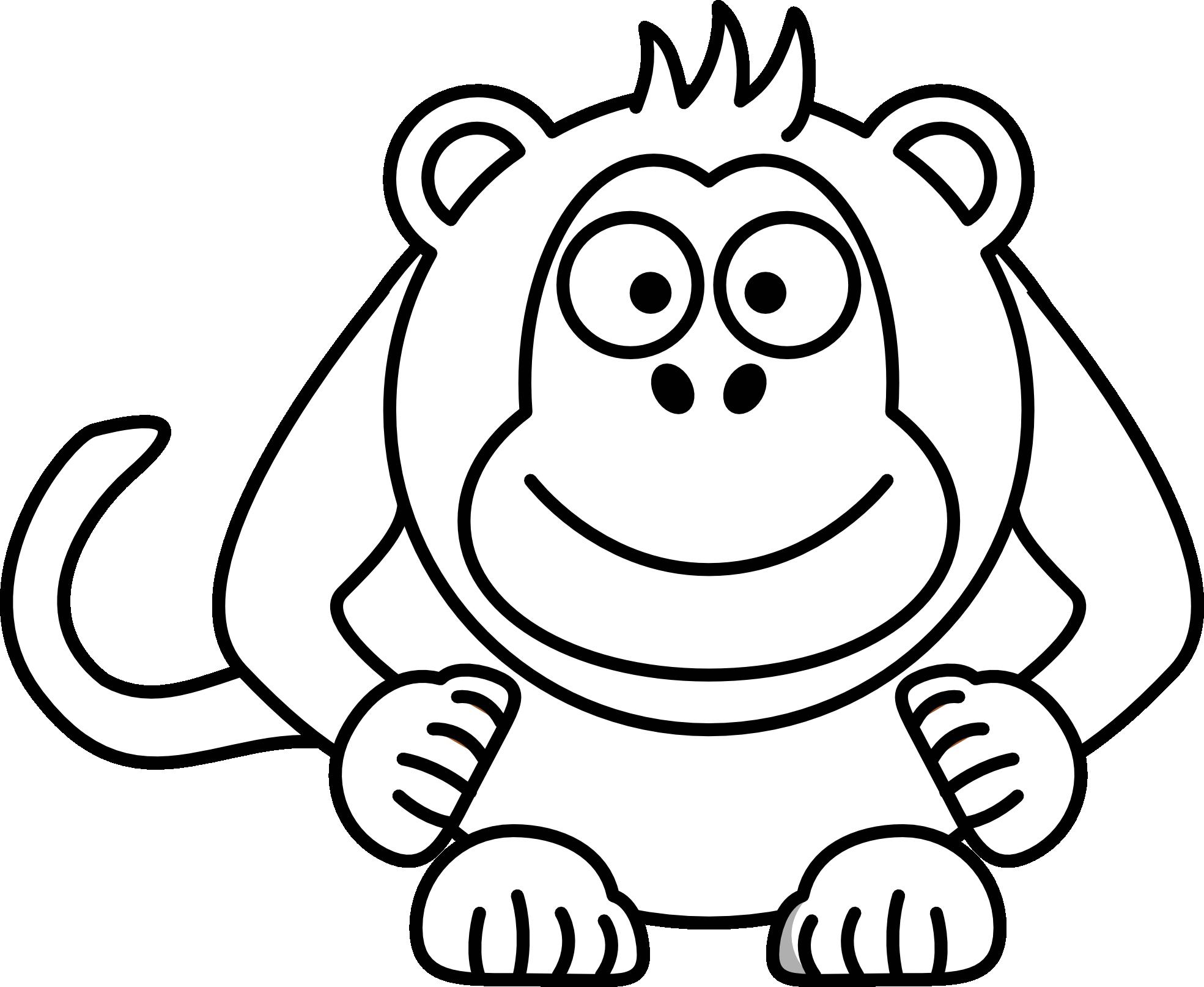1969x1613 Monkey Cartoon Drawings