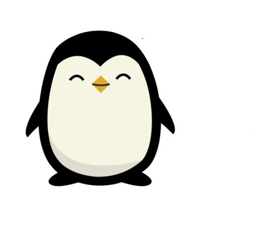 530x481 Best Penguin Drawing Ideas Penguin Drawing Easy