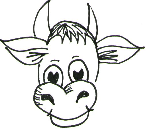 508x449 The Best Cartoon Cow Ideas Cow Drawing, Learn