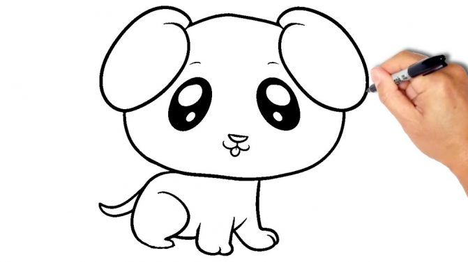 671x377 Coloring Pages Cool Easy Drawings Of Dogs Cartoons Cartoon