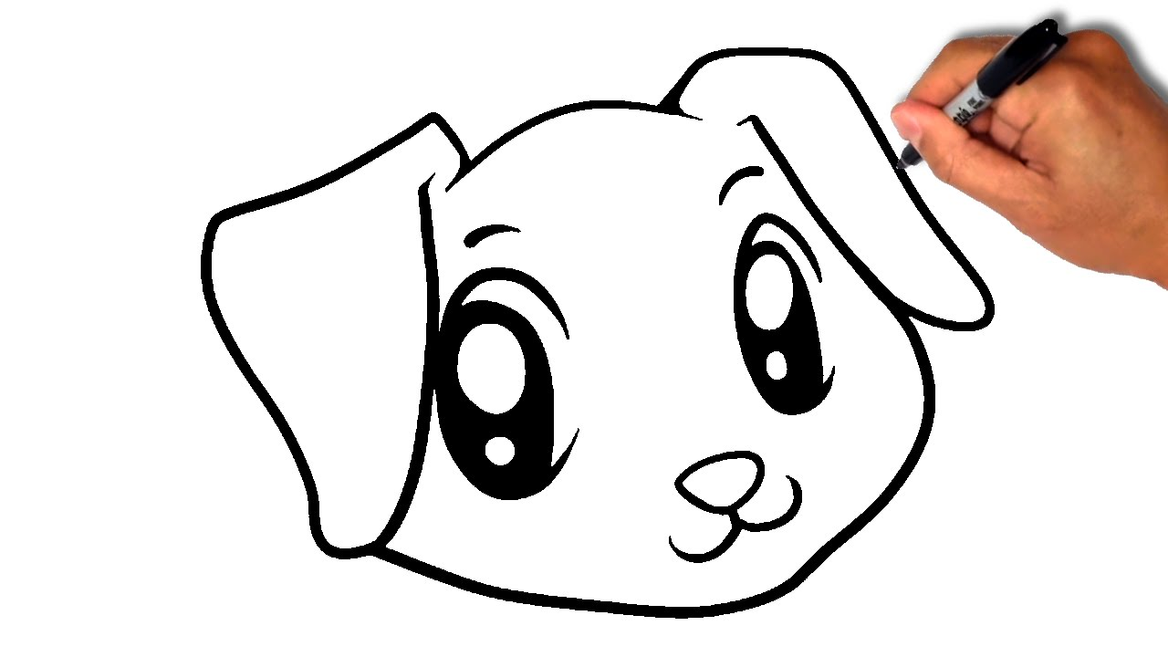 1280x720 How To Draw Dog Face [Simple]