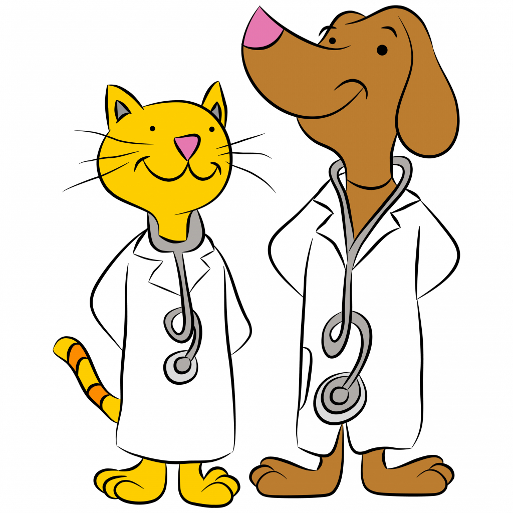 1024x1024 Cartoon Drawings Of Dogs And Cats Cartoon Dog And Cat Clip Art