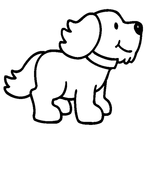612x652 Cartoon Puppy Dog Coloring Page Dog Templates