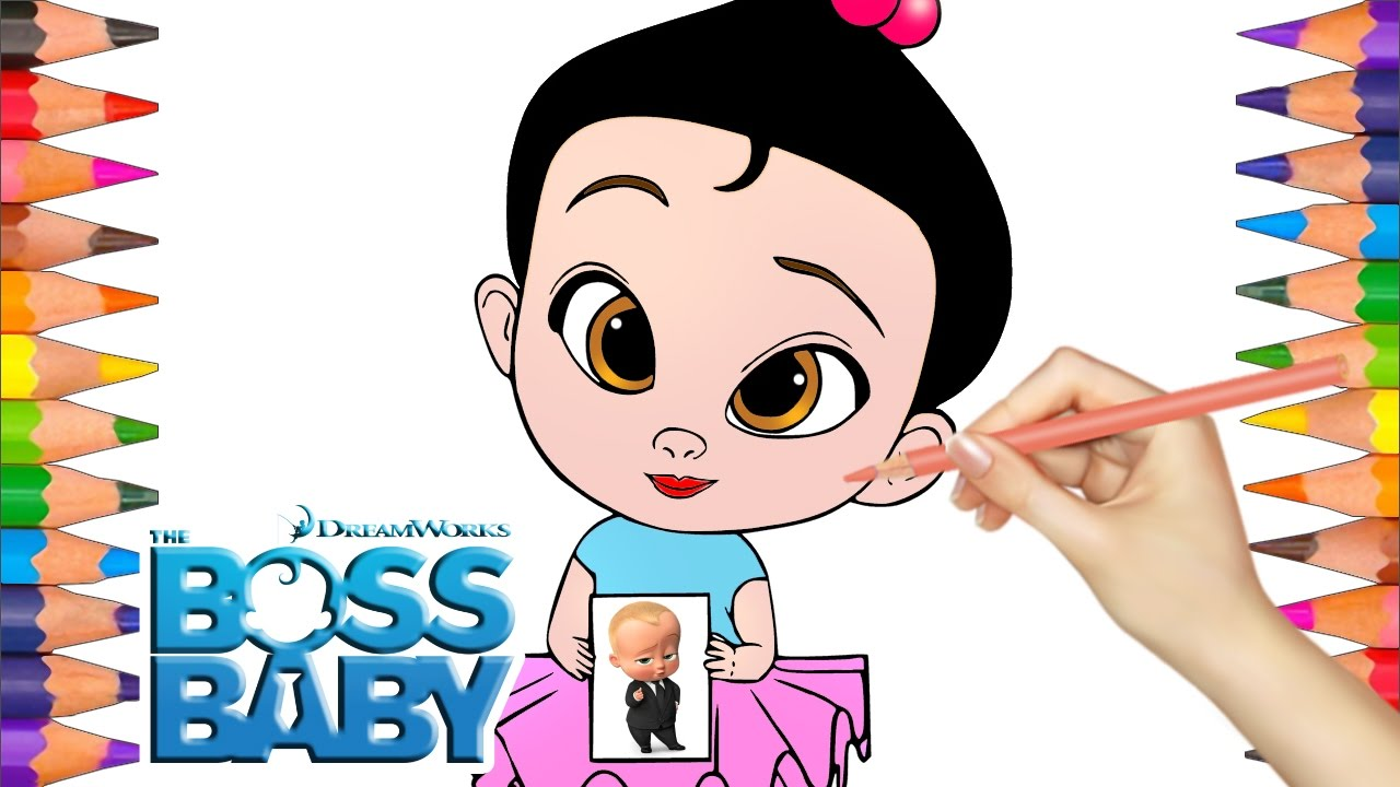 1280x720 Draw And Color Little Girl From Cartoon Boss Baby Coloring Pages