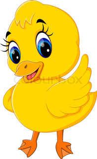 196x320 Cartoon Duck. Baby Duck. Duck Character. Cute Duckling. Character
