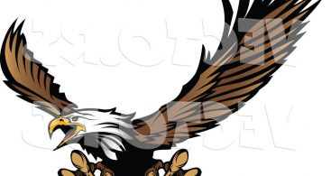 Cartoon Eagle Flying Clipart