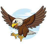 190x190 Eagle Cartoon Flying Royalty Free Stock Photo Girl Scouts Mural