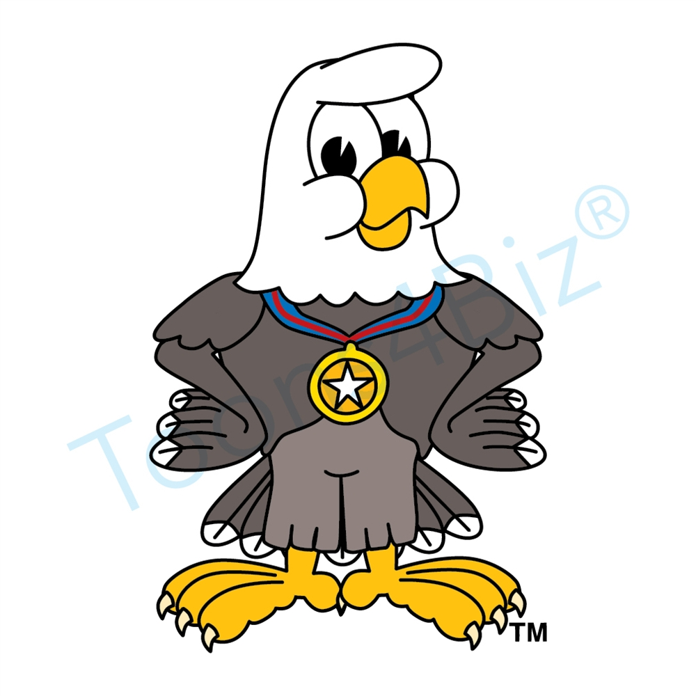 1000x1000 Bald Eagle Mascot Bald Eagle
