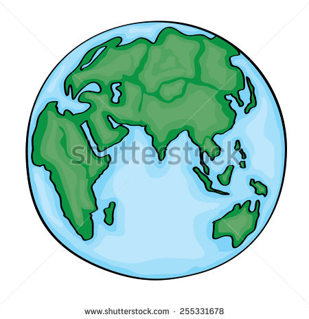 450x464 Drawn Cartoon Earth