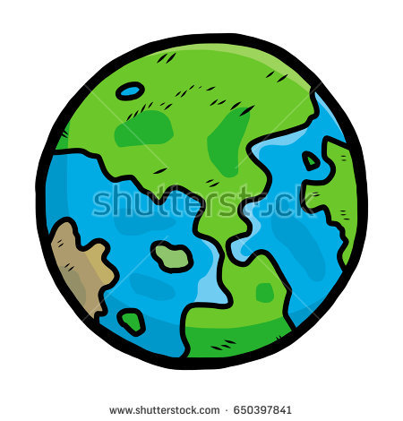 450x470 Drawn Earth Cartoon