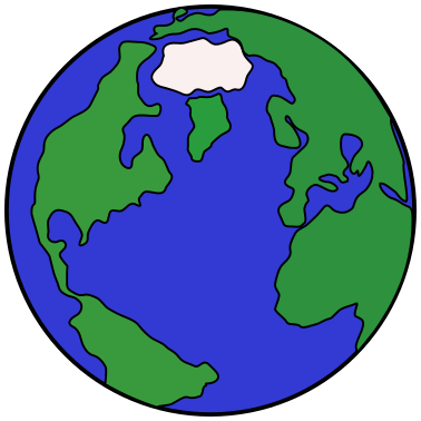 378x378 Cartoon Globe