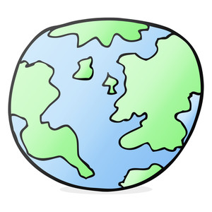 300x300 Freehand Drawn Cartoon Pot Of Earth Royalty Free Stock Image