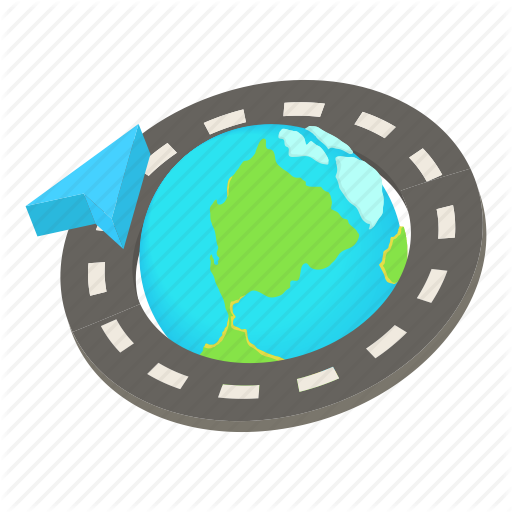 512x512 Cartoon, Earth, Globe, Road, Round, Trip, World Icon Icon Search