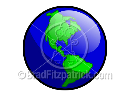 432x324 Cartoon Earth Clipart Picture Royalty Free Earth Clip Art Licensing.