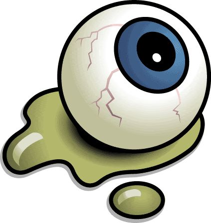Cartoon Eyeball Clipart