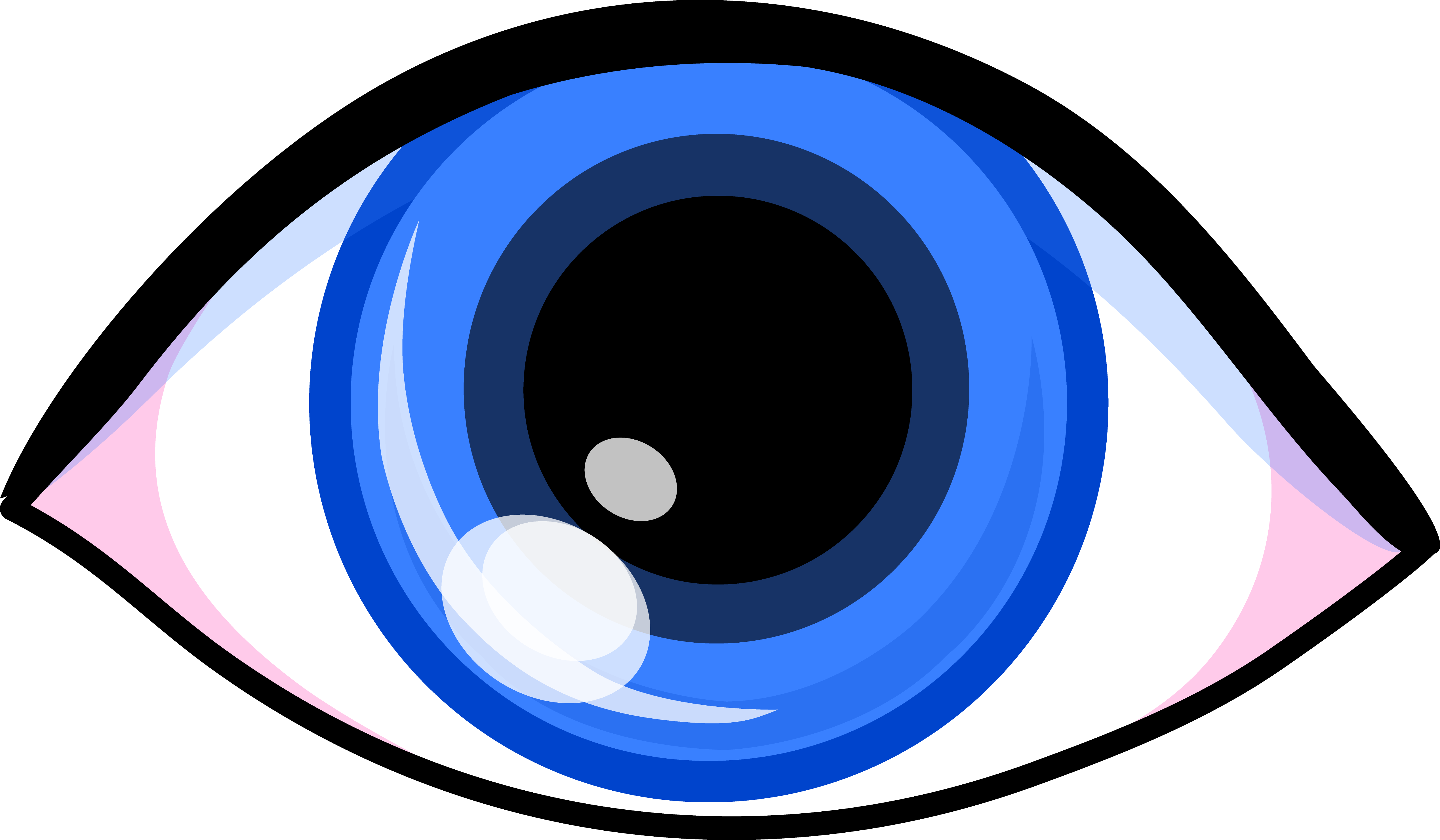 5076x2962 Eyeball Clipart Simple Eye