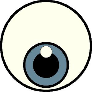 300x300 Eyeball Eyes Cartoon Eye Clip Art Clipart Image 0 2