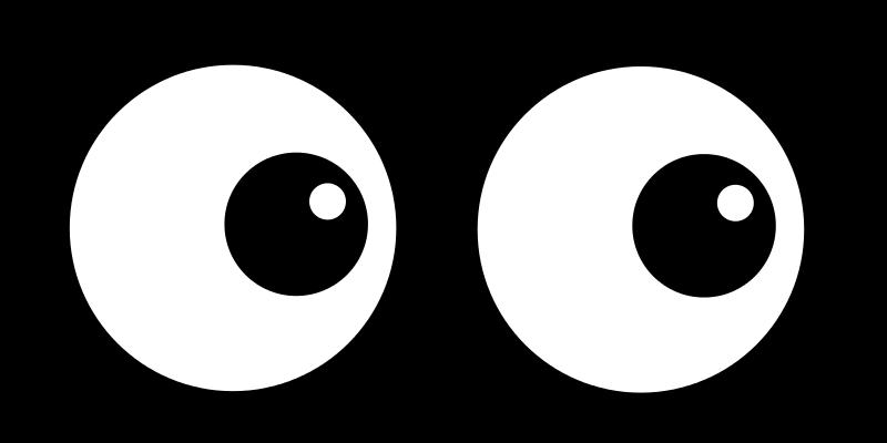 800x400 Cartoon Eyes Clip Art
